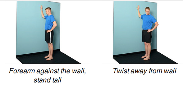 pec stretch exercise flow routine