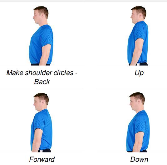 movement flow routine shoulder rolls
