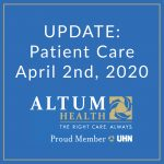 Update on Patient Care: April 2nd, 2020